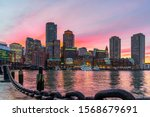 Boston Skyline And Fort Point...