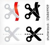 scissors icons set icons | Shutterstock .eps vector #156869909