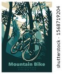 mountain bike cycling in the...   Shutterstock .eps vector #1568719204