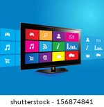 internet television concept ... | Shutterstock .eps vector #156874841