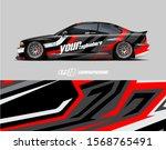 car wrap decal designs....   Shutterstock .eps vector #1568765491