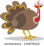 cute cartoon thanksgiving... | Shutterstock .eps vector #156878165