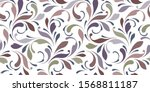 decorative flowery pattern with ... | Shutterstock .eps vector #1568811187