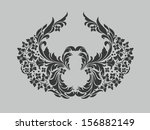 vector ornamental decorative... | Shutterstock .eps vector #156882149