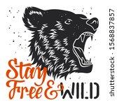 handmade typography and bear... | Shutterstock .eps vector #1568837857