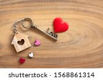 House Key In Heart Shape With...