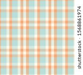 Tartan Orange And Cyan Pattern...