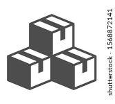 pile of cardboard boxes vector...