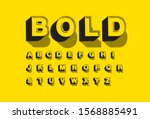 retro 3 dimension typography... | Shutterstock .eps vector #1568885491