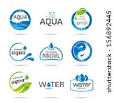 water design elements. water... | Shutterstock .eps vector #156892445