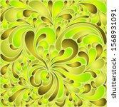 silk texture fluid shapes ... | Shutterstock .eps vector #1568931091