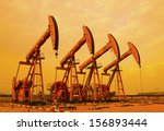 oil pumps. oil industry... | Shutterstock . vector #156893444