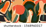 hand drawn abstract pattern.... | Shutterstock .eps vector #1568960317