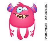 funny cartoon monster. vector... | Shutterstock .eps vector #1569001387