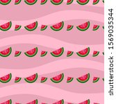 seamless pattern with juicy... | Shutterstock .eps vector #1569035344