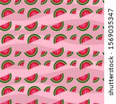 seamless pattern with juicy... | Shutterstock .eps vector #1569035347