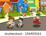 ball,boys,cartoon,cheerful,childhood,children,city,clip-art,clipart,cute,drawing,female,football,friend,friendship