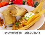 Tasty Mexican Tamale With...