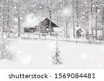 Winter Snowy Bavarian Alpine...