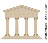 ancient temple with four...   Shutterstock .eps vector #1569114304