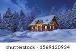 Dreamlike Winter Scenery With...