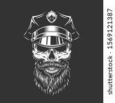 vintage monochrome police... | Shutterstock . vector #1569121387