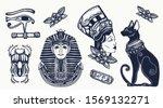 ancient egypt elements. pharaoh ... | Shutterstock .eps vector #1569132271