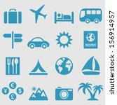 travel icons set.vector  | Shutterstock .eps vector #156914957