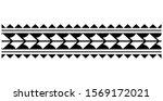 polynesian tattoo. set of... | Shutterstock .eps vector #1569172021