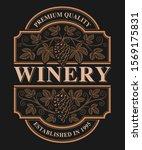 vintage beer wine with grape... | Shutterstock .eps vector #1569175831
