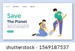 save planet landing page vector ...