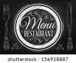 menu restaurant lettering on a...   Shutterstock .eps vector #156918887
