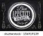 poster lettering bon appetit... | Shutterstock .eps vector #156919139
