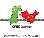 china pakistan economic... | Shutterstock .eps vector #1569223084