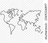 best popular world map outline... | Shutterstock .eps vector #1569226897