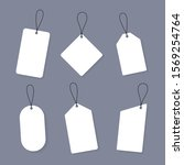set of empty sale or price tags ... | Shutterstock .eps vector #1569254764