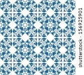 seamless pattern in blue   like ... | Shutterstock .eps vector #156925901