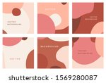 vector set of abstract creative ... | Shutterstock .eps vector #1569280087