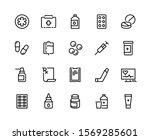 drugs line icon. medicine... | Shutterstock .eps vector #1569285601