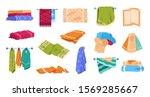bath towels. beach and spa soft ...   Shutterstock .eps vector #1569285667