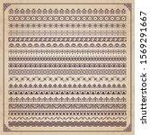 decorative calligraphic borders ... | Shutterstock .eps vector #1569291667
