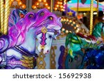 A Colorful Horse Close Up On A...