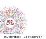 big data infographic. dna test  ... | Shutterstock .eps vector #1569309967