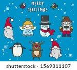 merry christmas cute heroes...   Shutterstock .eps vector #1569311107
