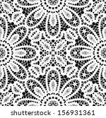 Lace ornamental, floral seamless background, wedding pattern, embroidery elements, vector illustration - stock vector