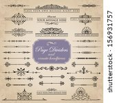 page dividers and ornate... | Shutterstock .eps vector #156931757