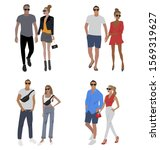 vector fashion illustration of... | Shutterstock .eps vector #1569319627