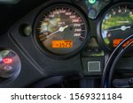 Speedometer Of Motorcycle On A...