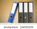 business and accounting folders ... | Shutterstock . vector #156933194