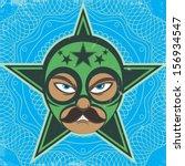 mexican luchador wrestler   Shutterstock .eps vector #156934547